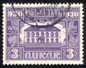 Iceland Sc# 152 Used 1930 3a Definitives