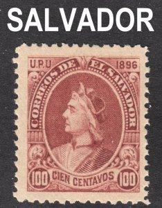 El Salvador Scott 170L unwtmk 1st issue F+  mint OG NH.