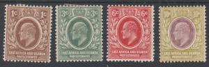 EAST AFRICA AND UGANDA 1907 KEVII RANGE TO 10C