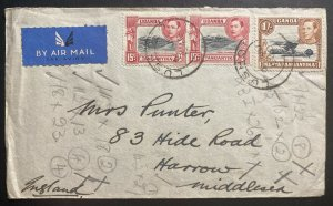 1940 Lushoto Tanganyika British KUT Airmail Cover To Harrow England