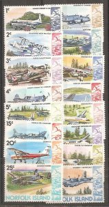 Norfolk Island SC 256-70 Mint Never Hinged
