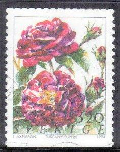 SWEDEN SC# 2073 **USED** 3.20k 1994  FLOWER SEE SCAN