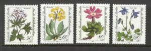 Germany Berlin Sc# 9NB204-9NB207 MNH 1983 50+20pf-120+60pf Flowers