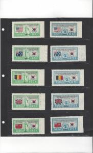 Korea 132-73 MNH Flags of Participating Countries, Both Italy, 44 Stamps