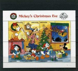 GRENADA 1988 Sc#1661 DISNEY CHRISTMAS SHEET OF 8 STAMPS MNH