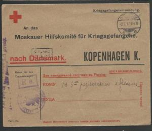 GERMANY 1917 POW cover to Denmark..........................................58089
