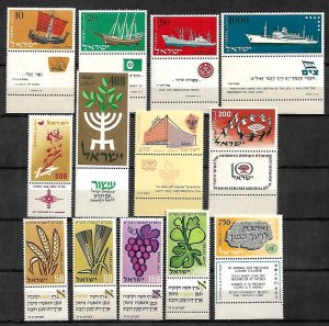 ISRAEL STAMPS, 1958 YEAR SET COMPLETE, MNH