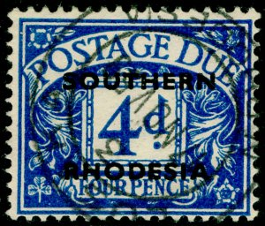 SOUTHERN RHODESIA SGD5, 4d blue, FINE USED.