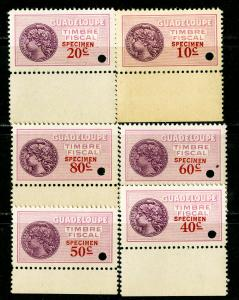 Guadeloupe Stamps Specimen NH Early Values