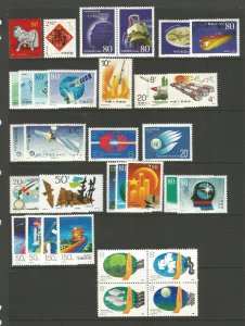 China 2003 - 12 X Different Sets Thematic Science and Technology unmounted mint