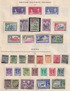 BRITISH COLONIES BURMA  INTERESTING COLLECTION ON ALBUM PAGES - Y414