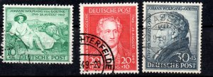 Germany 1949 #B306-308 VF *USED*