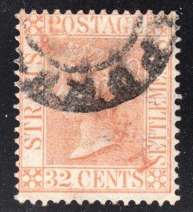 Malaya Straits Settlements Scott 56 wtmk CA F+  used.