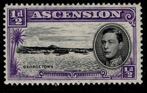 ASCENSION GVI SG38b, ½d black & bluish violet, M MINT.