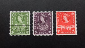 Kenya, Uganda & Tanganyika 1960 Flowers, Animals and Local Motives Used