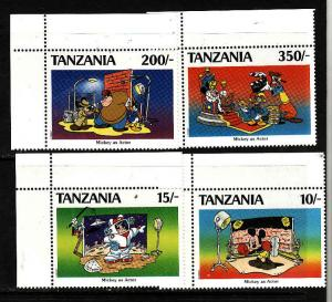 Tanzania-Sc#689//696-unused NH 1/2 set-Disney-Mickey Mouse-1991-
