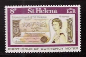 Saint Helena Scott 293 MH* currency stamp