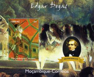Mozambique 2004 HECTOR BERLIOZ Edgar DEGAS Paintings s/s Perforated Mint (NH)
