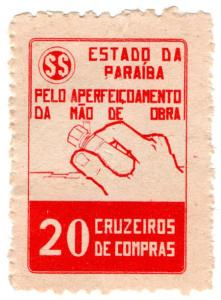 (I.B) Brazil Revenue : Paraiba Duty Stamp 20r (Handwork)