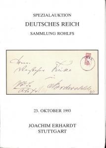 Erhardt: Sale # 31  -  Spezialauktion Deutsches Reich - B...