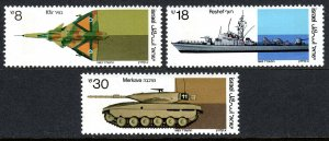 Israel 852-854, MNH. Taktical fighter, Missile boat, Battle tank, 1983