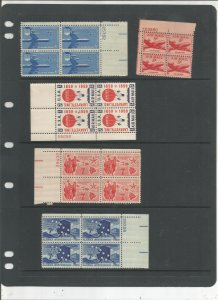 US AIRMAIL PLATE BLOCK COLLECTION, MNH, OG