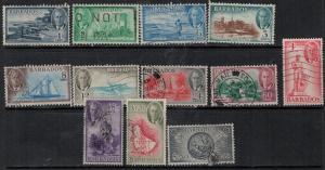 Barbados 1950 SC 216-227 Used Set SVC$ 95.00