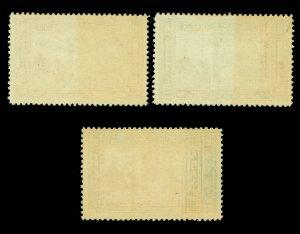 NICARAGUA 1941 Rowland Hill Penny Black Stamp Centenary set Yv# PA225-227 MNH
