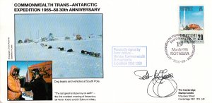 British Antarctic Territory FDC Sc 147 Signed Peter Jeffries Cachet Dog teams...