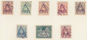 POLAND 1919 Krakow local overprint postage dues - 8 used ...................A602