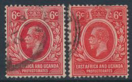 East Africa & Uganda Protectorate Used - SG 46 & 46a SC#42 - see details