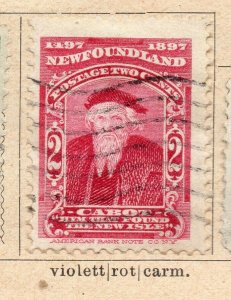 Newfoundland 1897 Early Issue Fine Used 2c. NW-11929