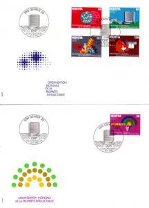 SCHWEIZ SWITZERLAND [OMPI/WIPO] MiNr 0001-05 ( FDC )