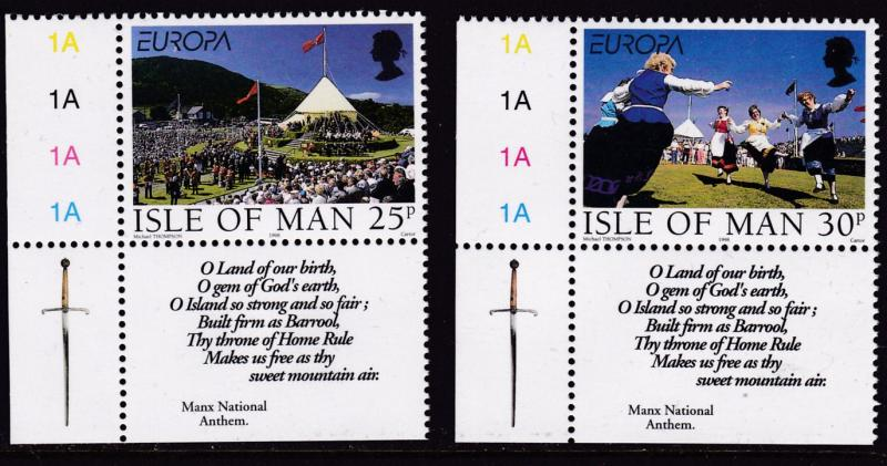 Isle of Man 1998 Europa Complete (2) National Festivals VF/NH(**)
