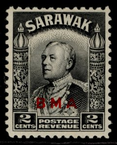 SARAWAK GVI SG127, 2c black, M MINT.