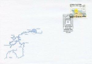 Estonia Architecture Stamps 2021 FDC Letipea Lighthouse Lighthouses 1v Set
