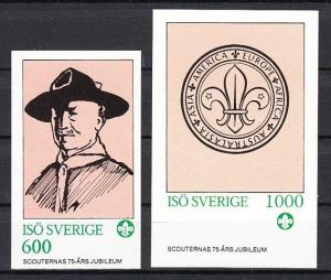 Iso, Swedish Local. 1982 issue. Scouting Anniversary s/sheets.