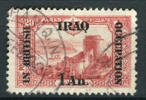 IRAQ; 1918 BRITISH OCCUPATION issue fine used 1a. value + good POSTMARK
