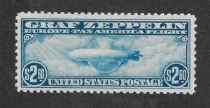 C15 MNH, $2.60 Zeppelin, XF+, Free Insured Shipping