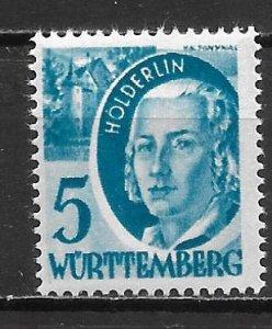 Germany 8N30 Wurttemberg Occupation single MNH