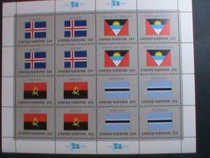 UNITED NATION-1986 SC#485-488 U. N. FLAGS SERIES MNH FULL SHEET- VERY FINE