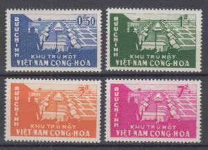 South Vietnam 1960 Full  Set Sc#140-143 MNH Luxe (White Gum)