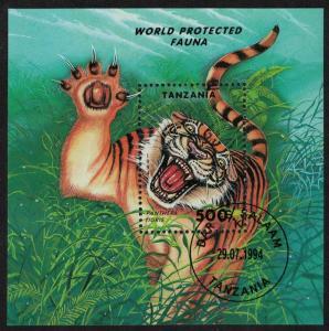 Tanzania Tiger Protected Fauna MS CTO SG#MS1814 SC#1294 MI#Block 251