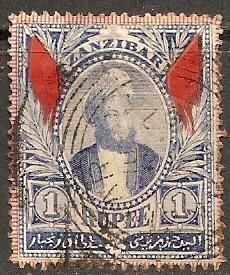 1896 Zanzibar Scott 48 Sultan Seyyid Hamid-bin-Thwain used