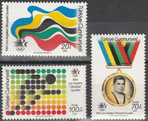 Turkey #B205-7 MNH F-VF CV $4.45 (V569)