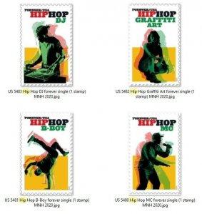 US 5480-5483 Hip Hop forever set (4 stamps) MNH 2020 after 7/15