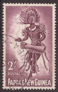 Papua Scott 159  Used native dancer stamp