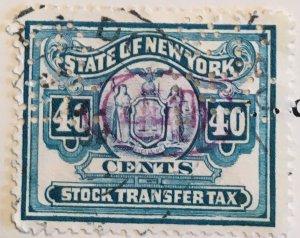 New York Stock Transfer, 40c, Vic's Stamp Stash