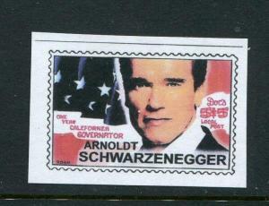 Doc's Local Post Arnoldt Schwarzenegger 1 7/8 x 1 3/8 MNH
