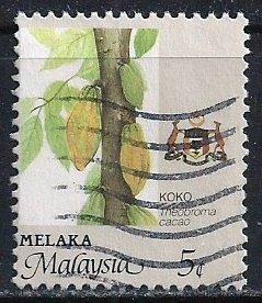 Malaysia-Malacca ~ Scott # 95 ~ Used